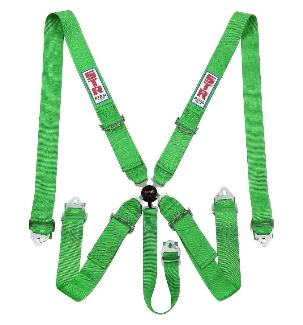 STR 5-Point Aircraft Buckle Harness - Green