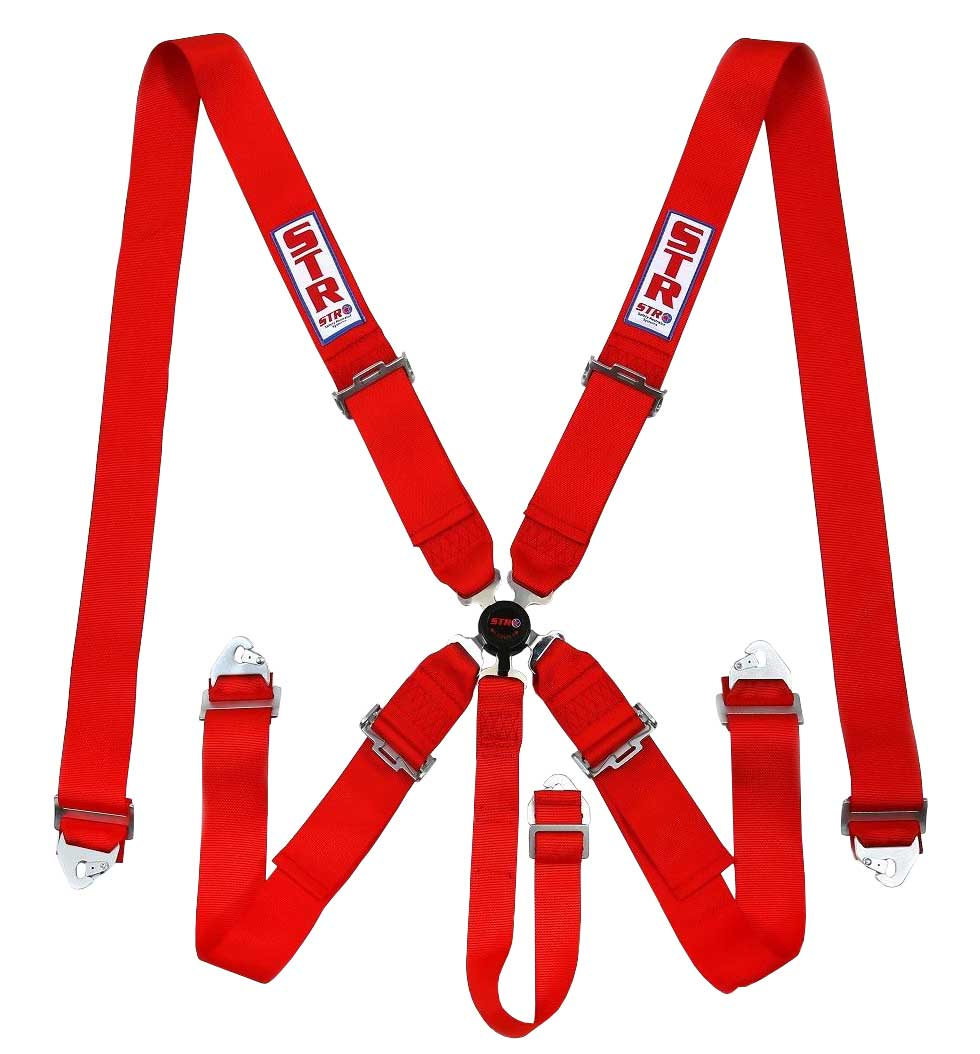 STR 5-Point Aircraft Buckle Harness - Red