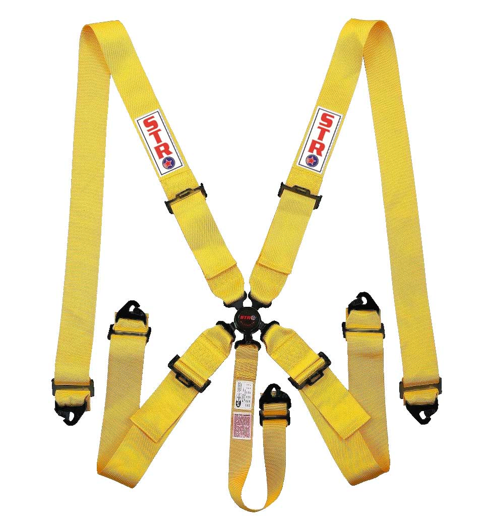 STR 5-Point Aircraft Buckle Harness - Yellow