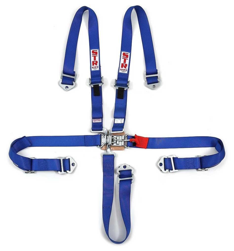 """STR Ninja 2"""" Wide 5-Point Race Harness - Blue"""