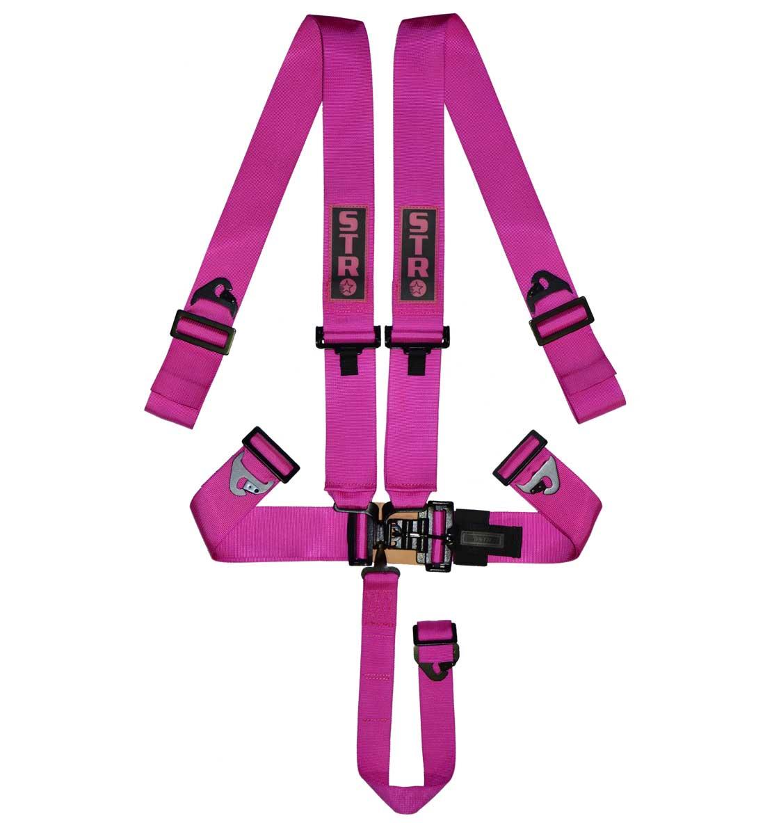 STR 5-Point NASCAR Latch Harness - Pink