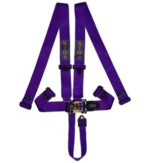 STR 5-Point NASCAR Latch Harness - Purple