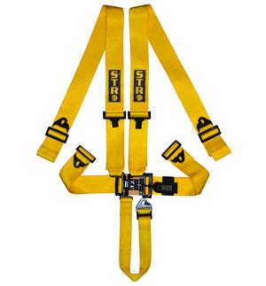 STR 5-Point NASCAR Latch Harness - Yellow