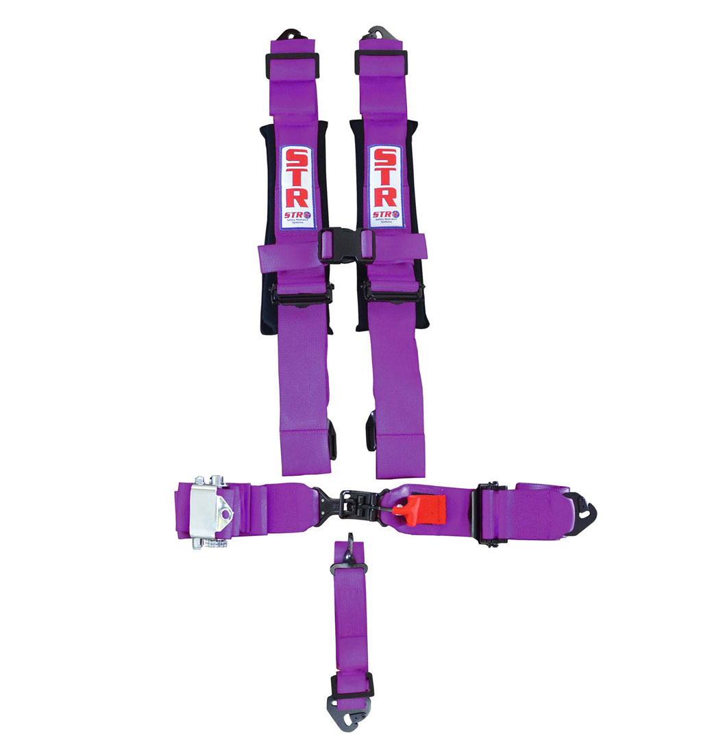 STR 5-Point Ratchet Harness - Purple