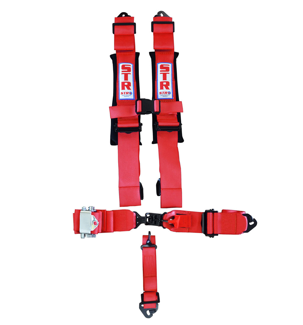 STR 5-Point Ratchet Harness - Red