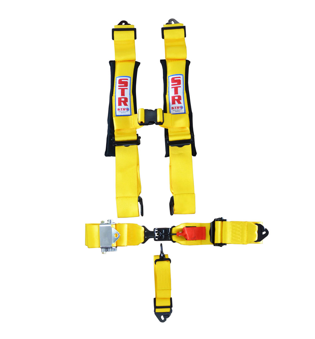 STR 5-Point Ratchet Harness - Yellow
