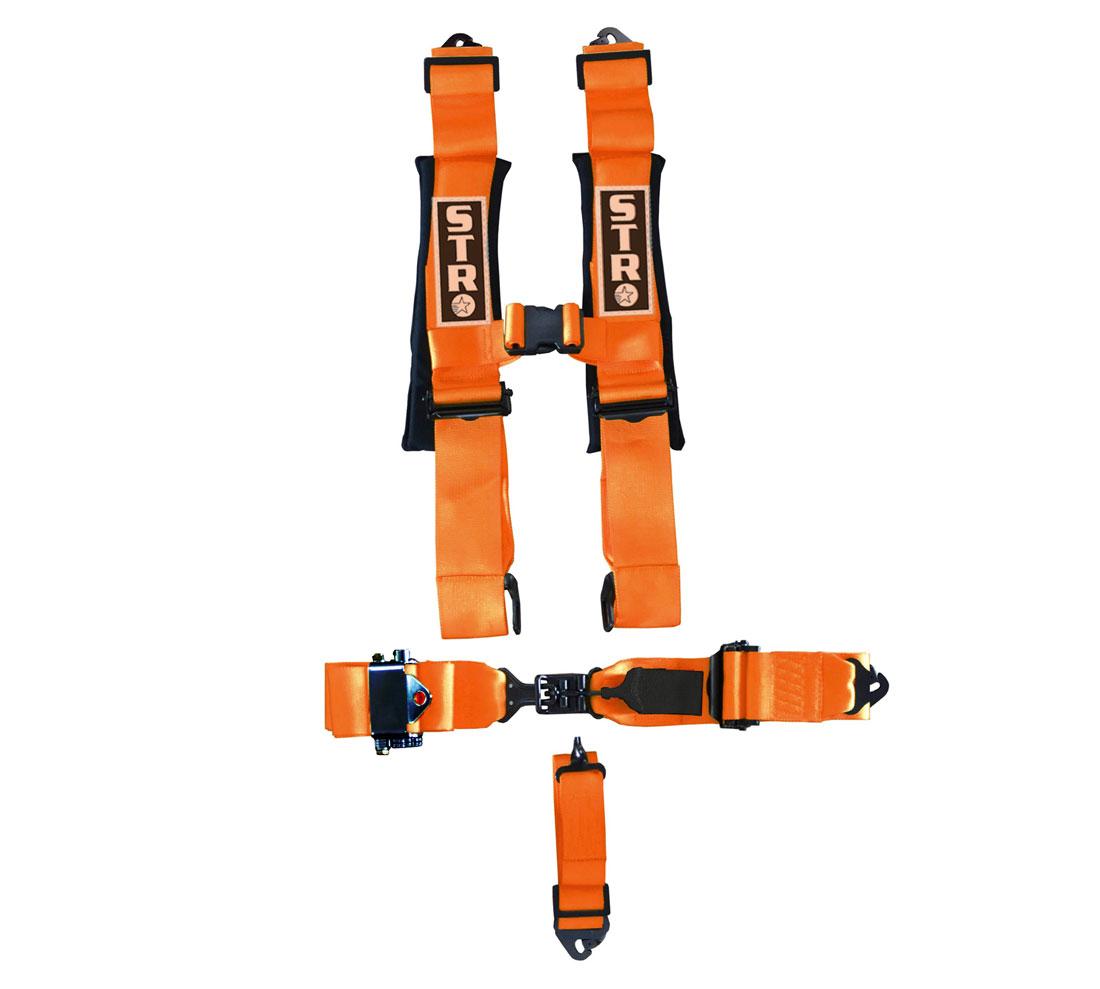 STR 5-Point Ratchet Harness - Orange