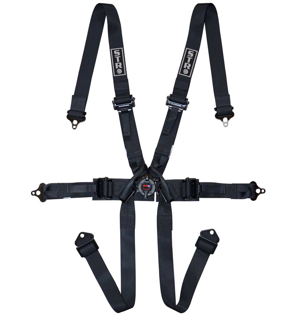 "6-Point Single Seater Harness 2"" Straps (2025) - Black"