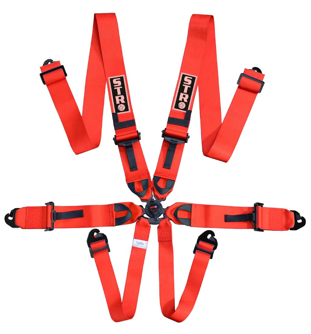 "6-Point Race Harness 3"" Straps (2025) - Red"