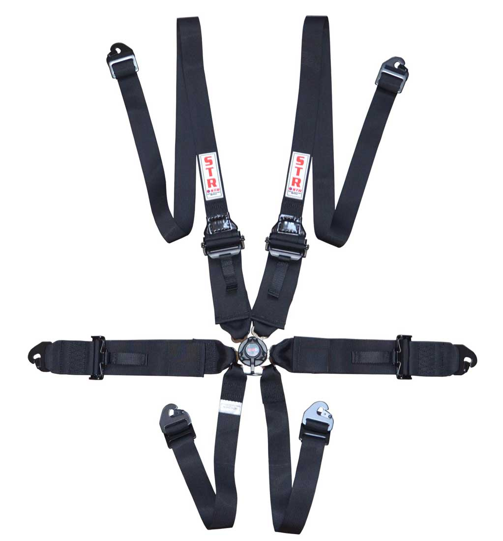 "6-Point FHR Harness, 3"" to 2"" Straps (2024) - Black"