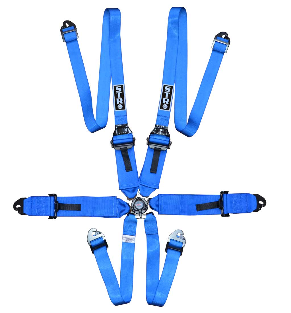 "6-Point FHR Harness, 3"" to 2"" Straps (2025) - Blue"