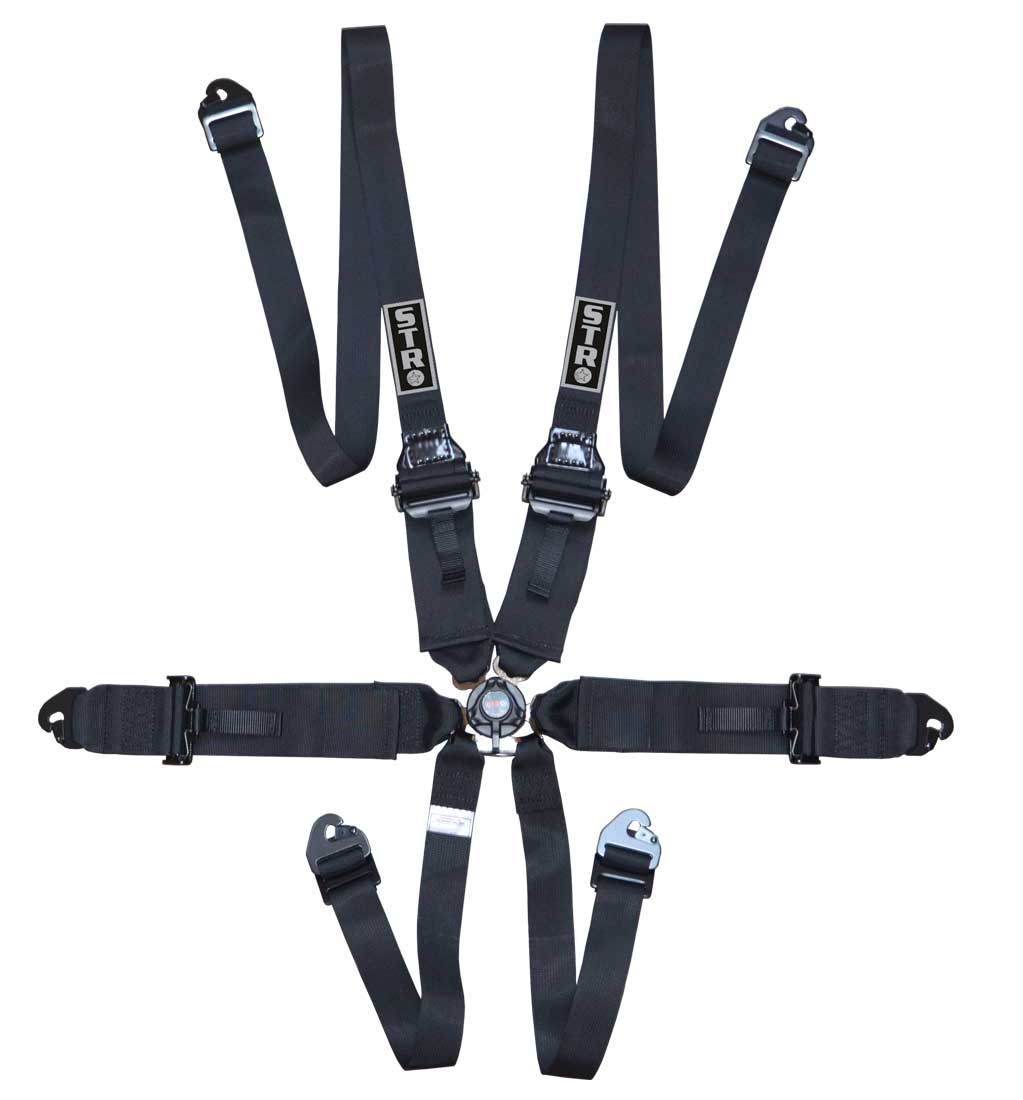 "6-Point FHR Harness, 3"" to 2"" Straps (2025) - Black"