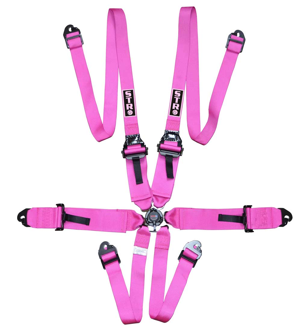 """6-Point FHR Harness, 3"""" to 2"""" Straps (2025) - Pink"""