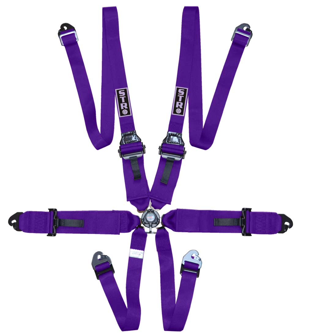 "6-Point FHR Harness, 3"" to 2"" Straps (2025) - Purple"