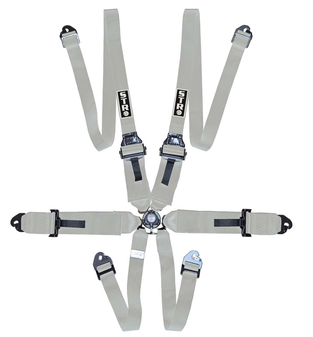 "6-Point FHR Harness, 3"" to 2"" Straps (2025) - Silver"