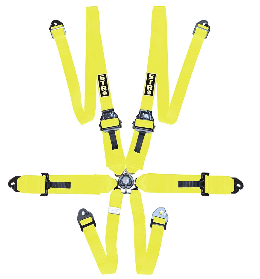 "6-Point FHR Harness, 3"" to 2"" Straps (2025) - Yellow"