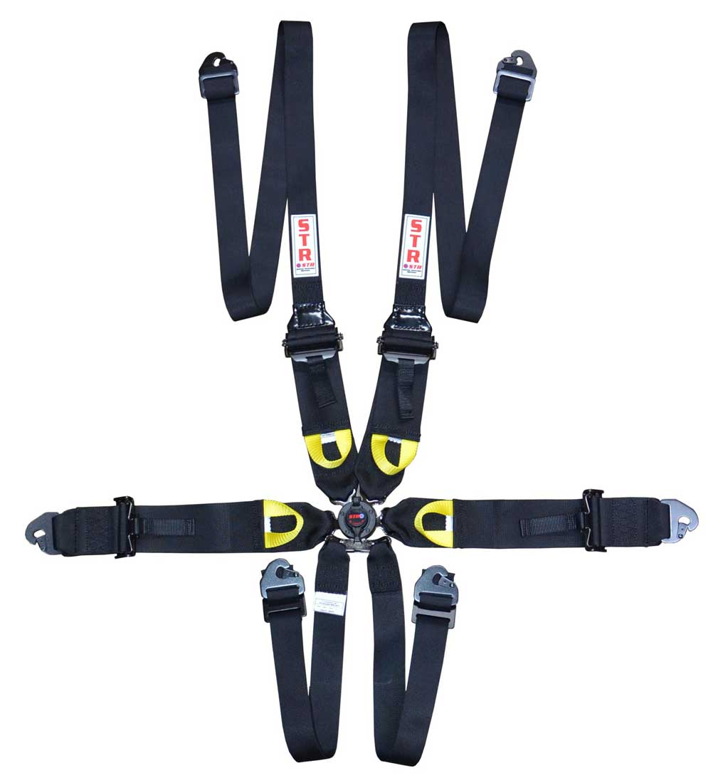 "6-Point Harness 3"" to 2"" Straps (2023) - Black"