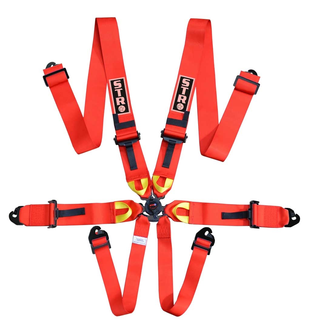 "6-Point Race Harness 3"" Straps (2024) - Red"