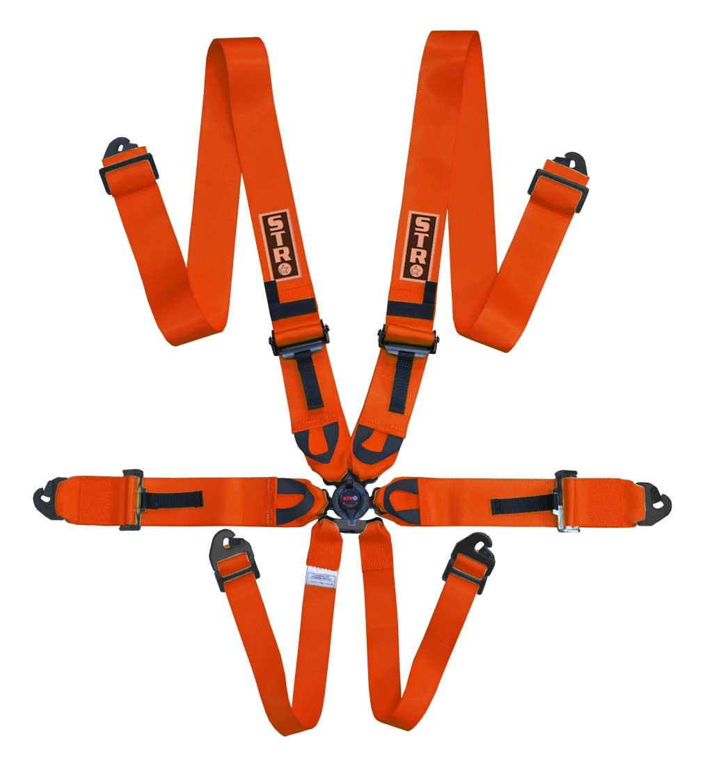 "6-Point Race Harness 3"" Straps (2025) - Orange"