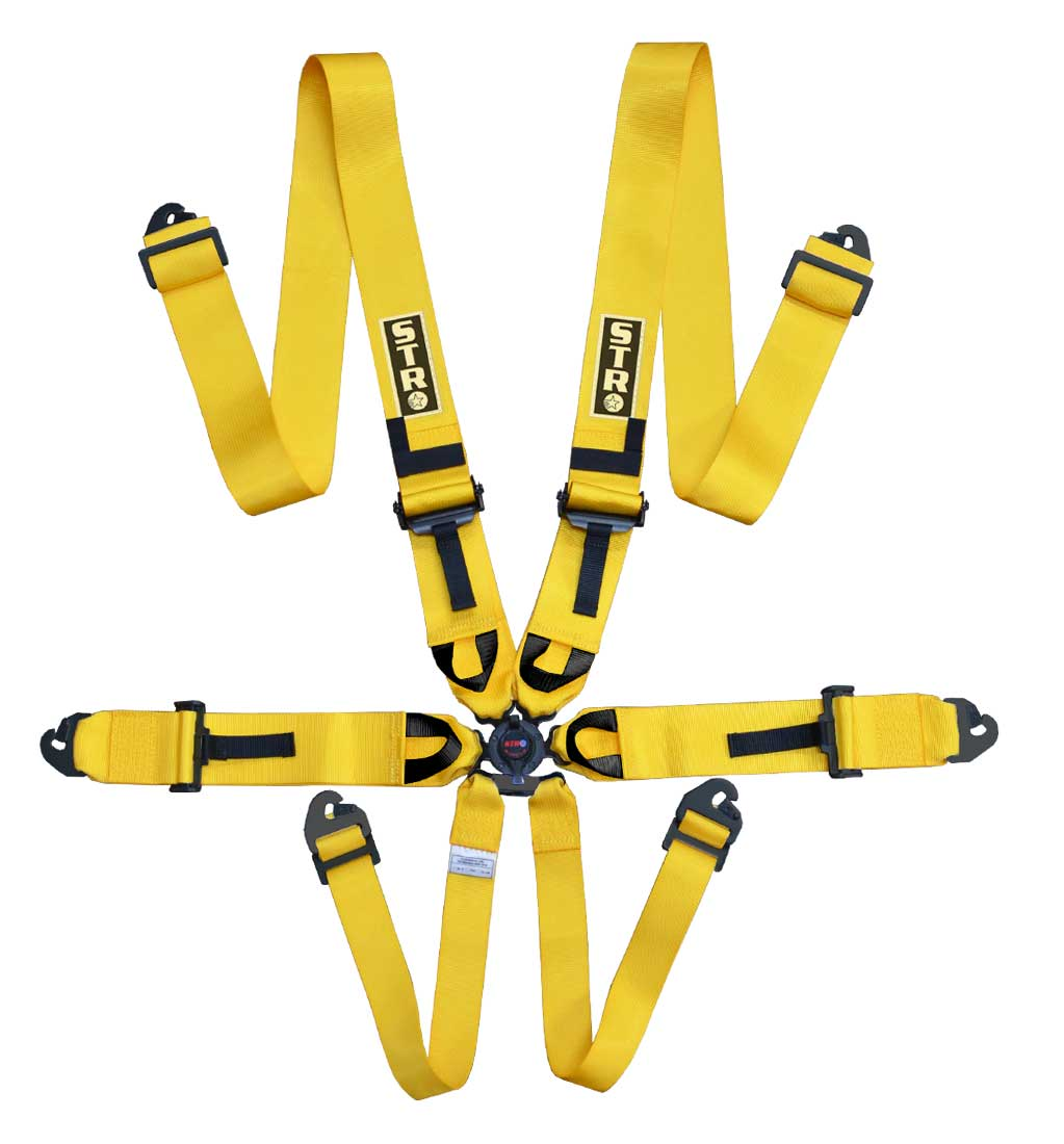 """6-Point Race Harness 3"""" Straps (2025) - Yellow"""