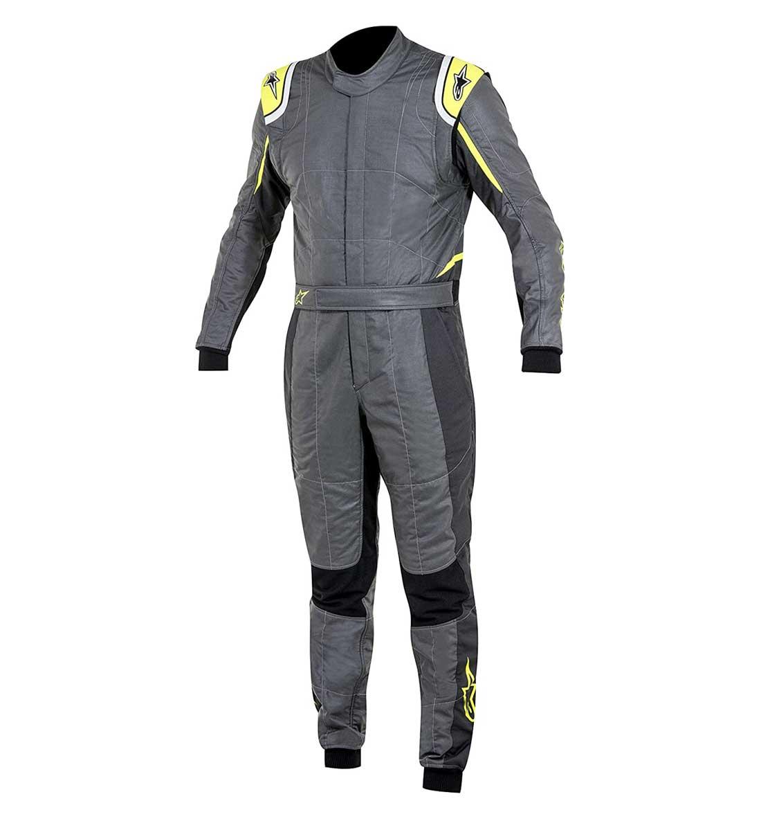 Alpinestars GP Tech Race Suit - Anthracite/Black/Yellow