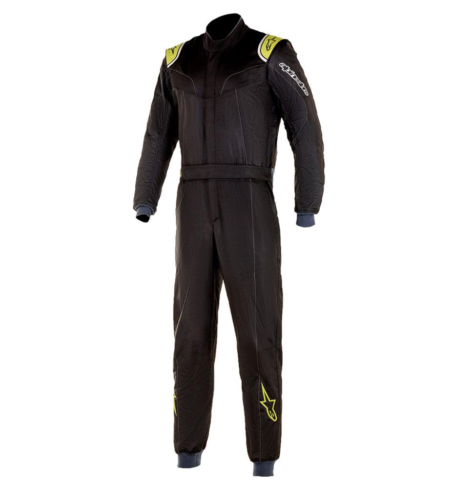 Alpinestars Stratos Race Suit - Black/Green Lime
