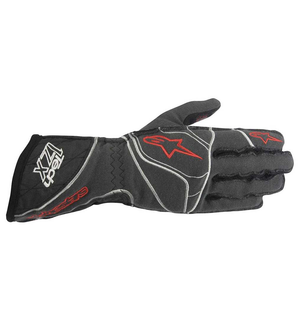 Alpinestars Tech 1-ZX Gloves - Anthracite/Black/Red
