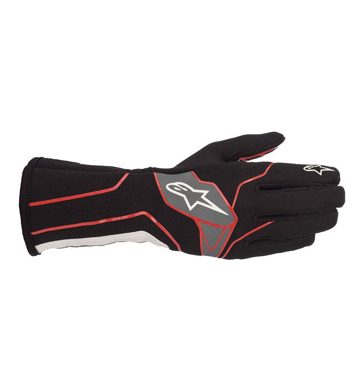 Alpinestars Tech-1 K V2 Gloves - Black/Red/White