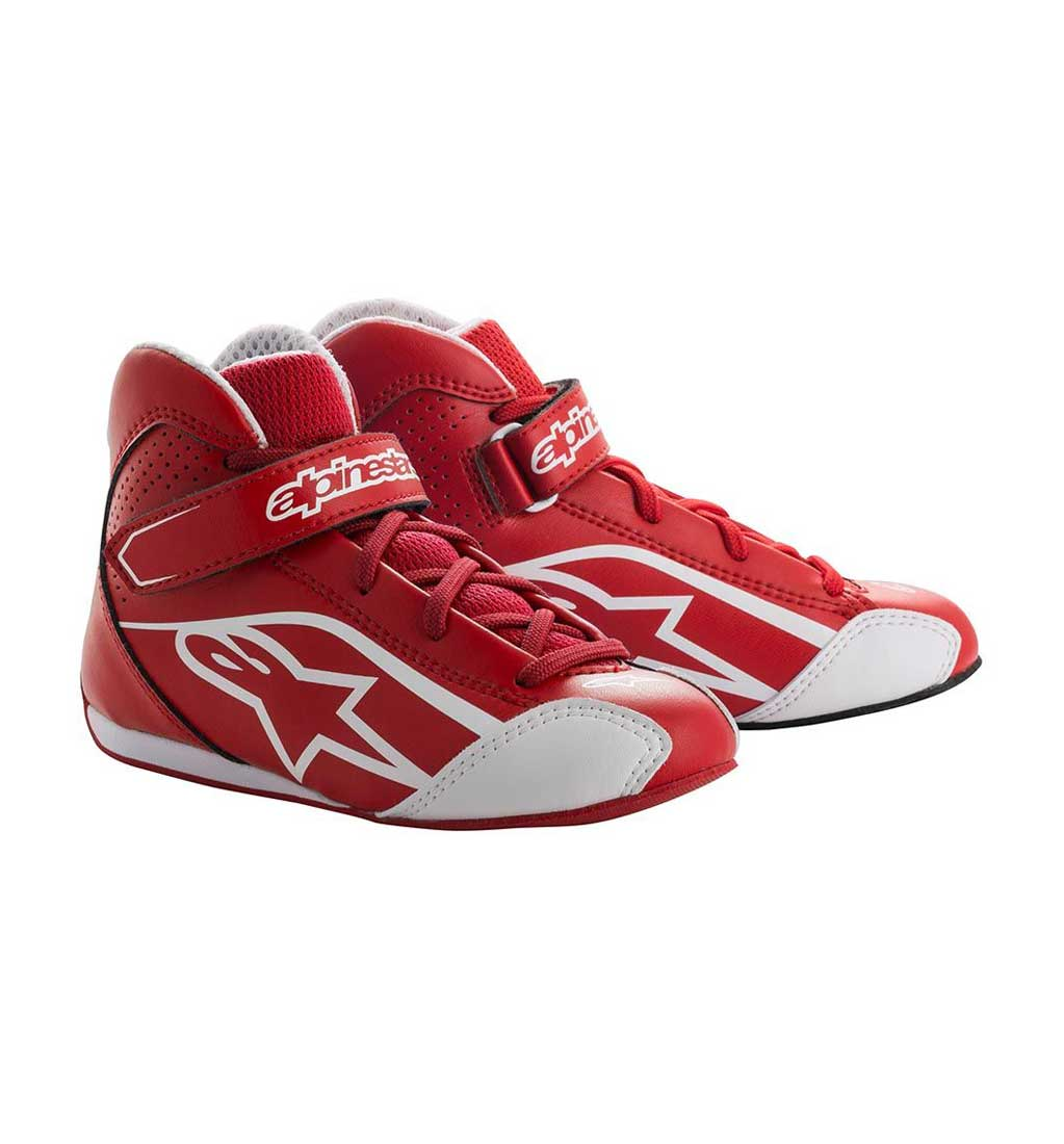 Alpinestars Tech-1 K S | Red/White | Size UK 11.5 EU30