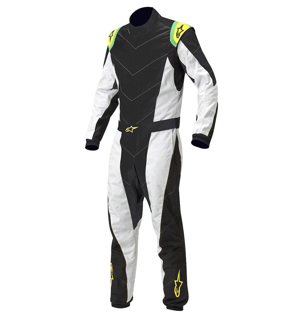 Alpinestars Youth K-MX5 S Suit - Black/Silver/Yellow Flou
