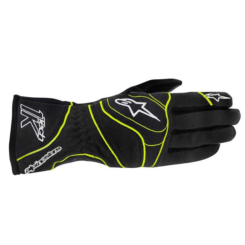 Alpinestars Tech 1-K Gloves - Black/Yellow Fluo
