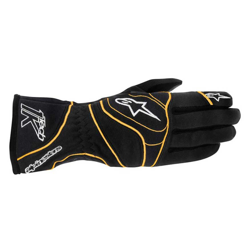 Alpinestars Tech 1-K Gloves | Black/Orange Fluo | S