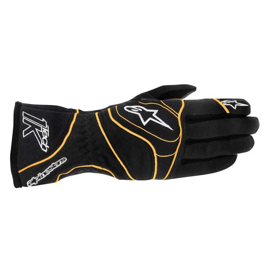 Alpinestars Tech 1-K - Gloves Black/Orange Fluo