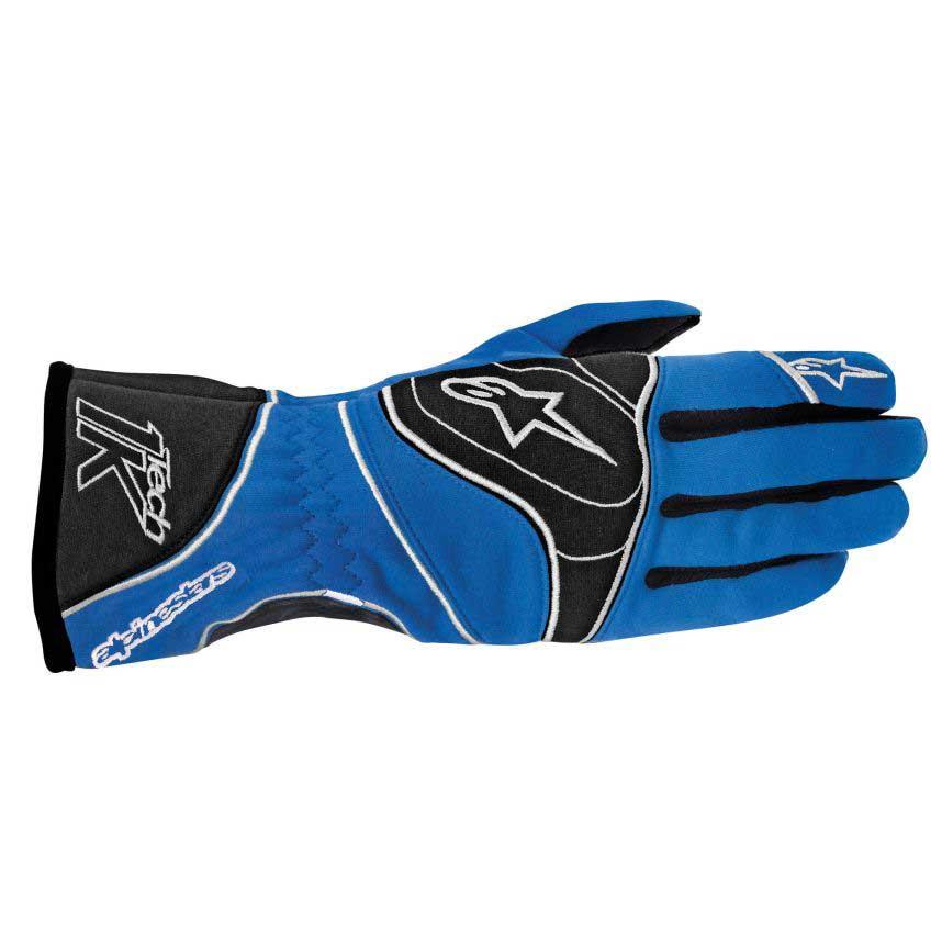 Alpinestars Tech 1-K Gloves - Anthracite/Blue/White