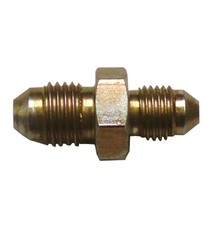 """Adaptor 7/16"""" Male to 3/8"""" Male Fitting - Zinc Plated"""