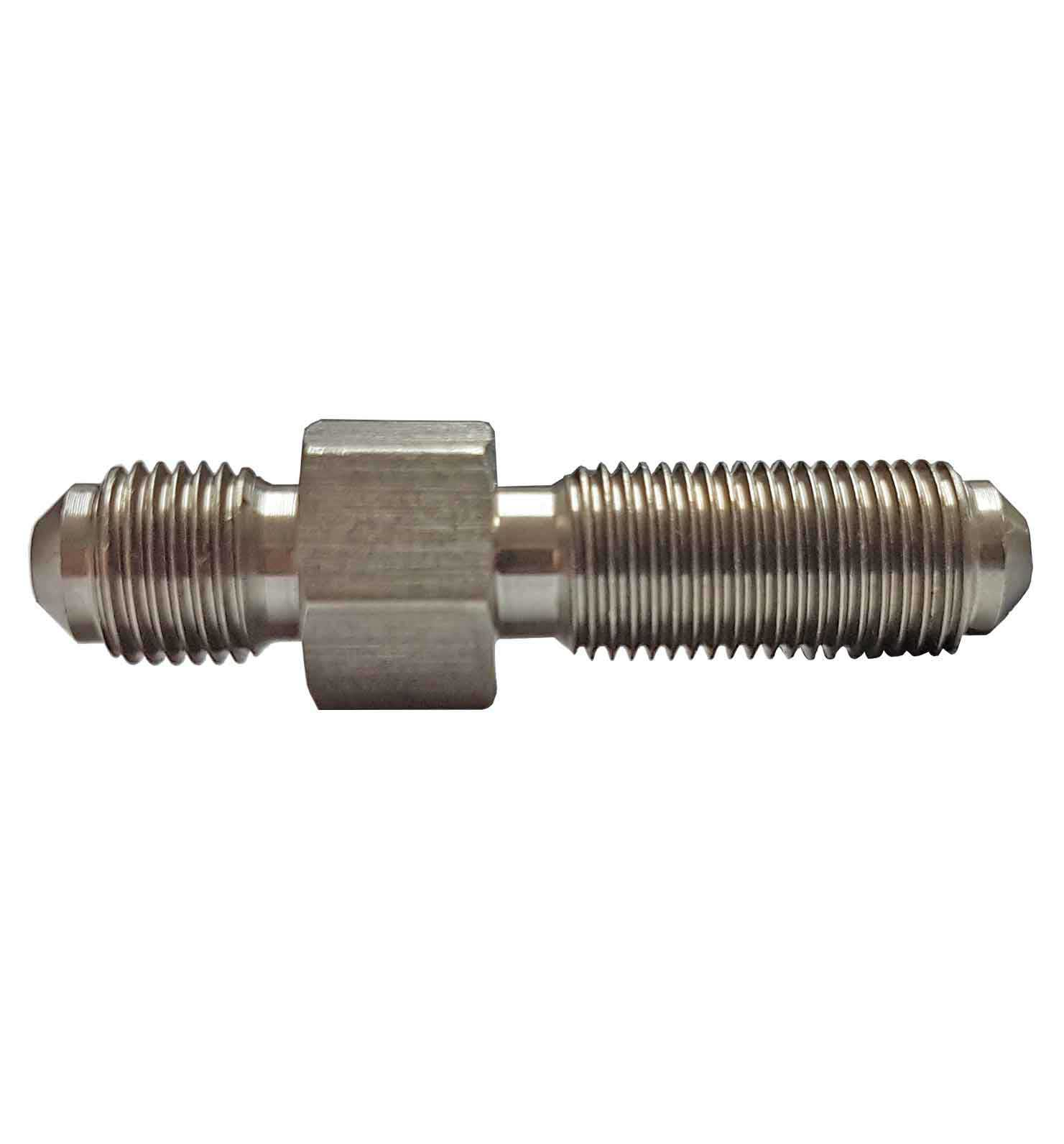 """M10x1mm Long Male Convex Fitting  for AN-3 (3/16"""") - Stainless Steel"""