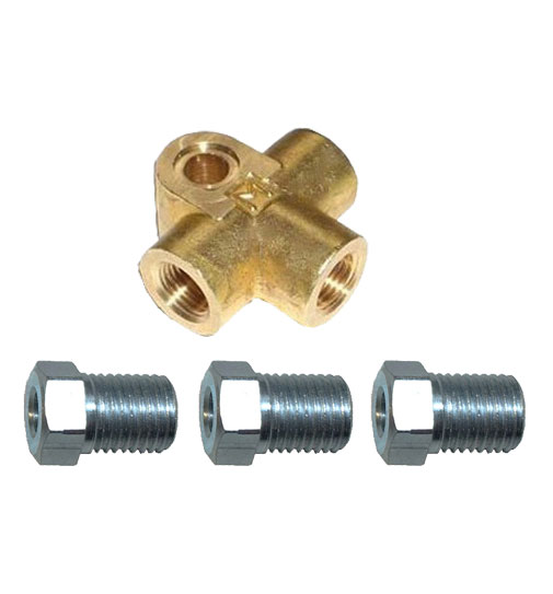 M10 x 1mm T-Piece with Brake Nuts