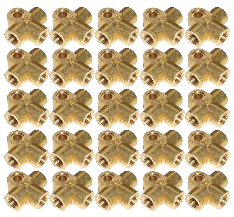 M10 x 1mm Brass T-Piece
