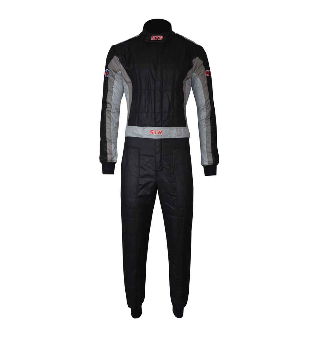 STR 'Club' Race Suit - Black/Grey/Silver