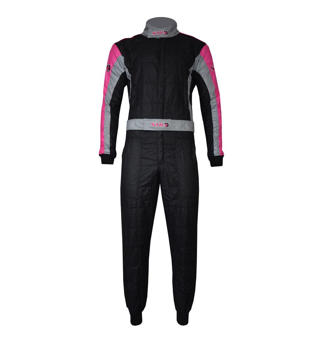 STR Youth 'Club' Race Suit - Black/Grey/Pink