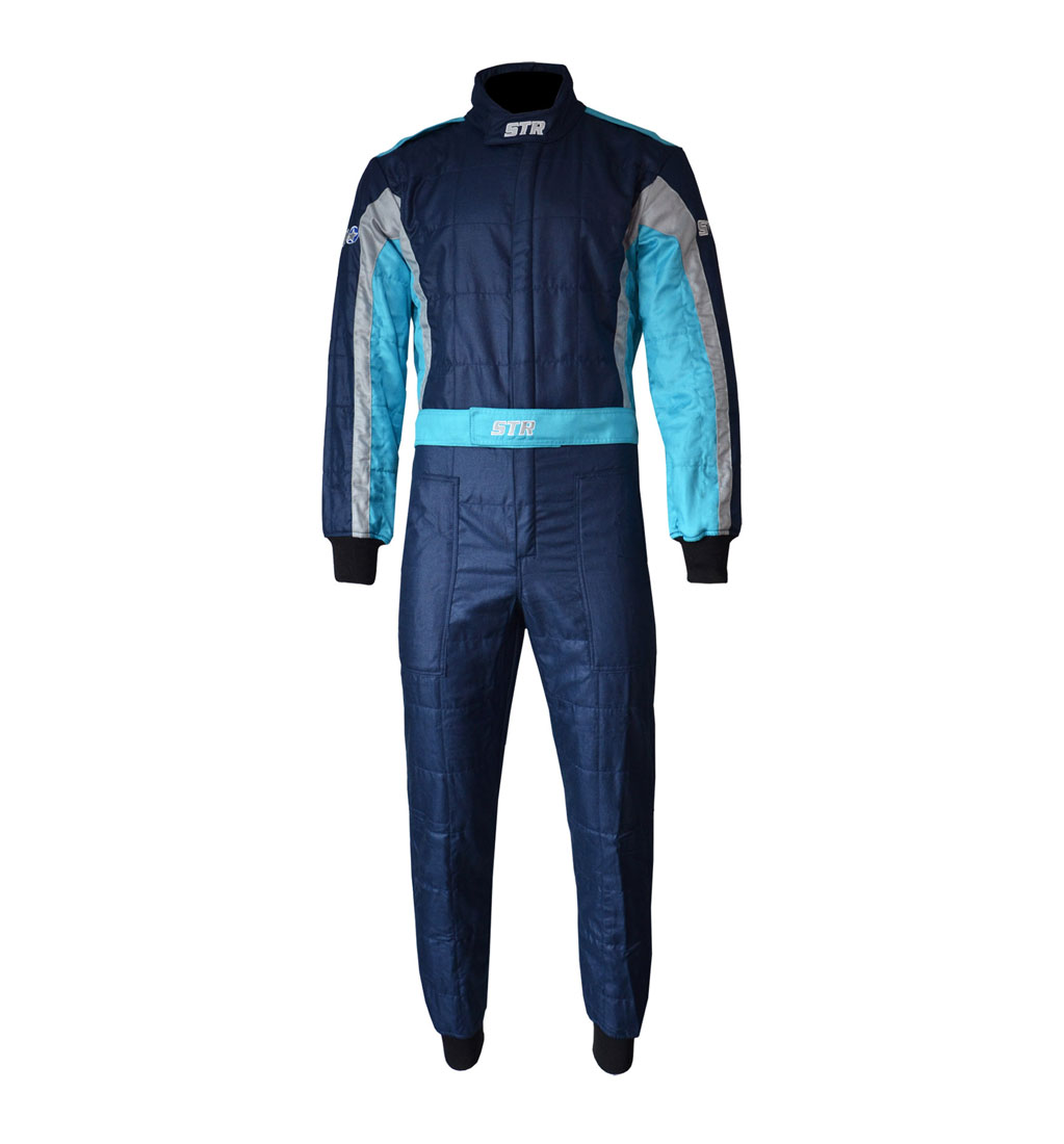 STR Youth 'Club' Race Suit - Navy/Silver/Blue