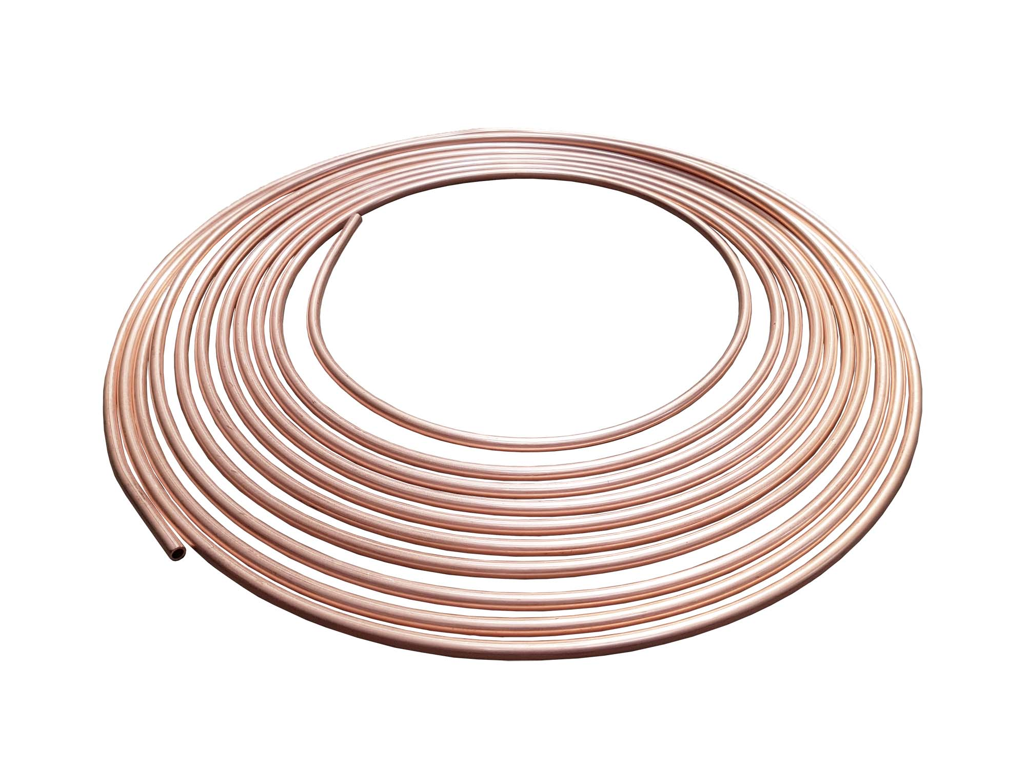 "Copper Brake Pipe 3/16"" x 25ft Long"