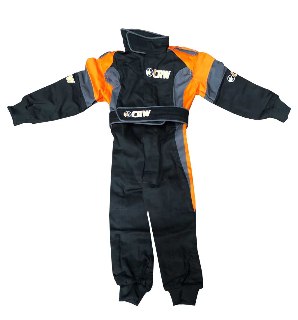 Kids Podium Pit Crew Suit - Black/Grey/Orange