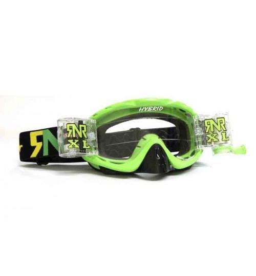 Rip N Roll RNR 'Hybrid XL' Goggles - Lime