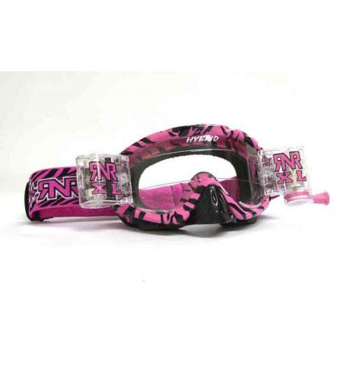 RNR 'Hybrid XL' Goggles - Wild Pink