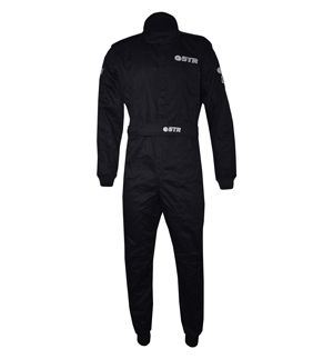STR 'Graphite Start' Race Suit - Black/Grey