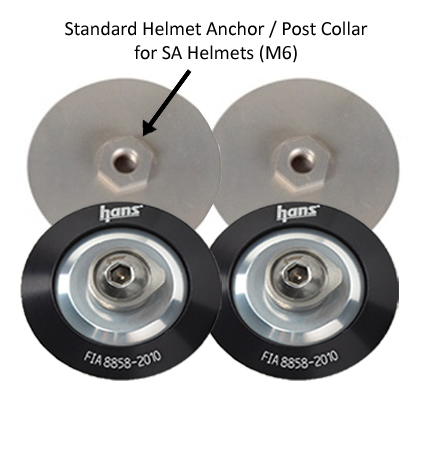 Backing Plates for Hans Helmet Posts