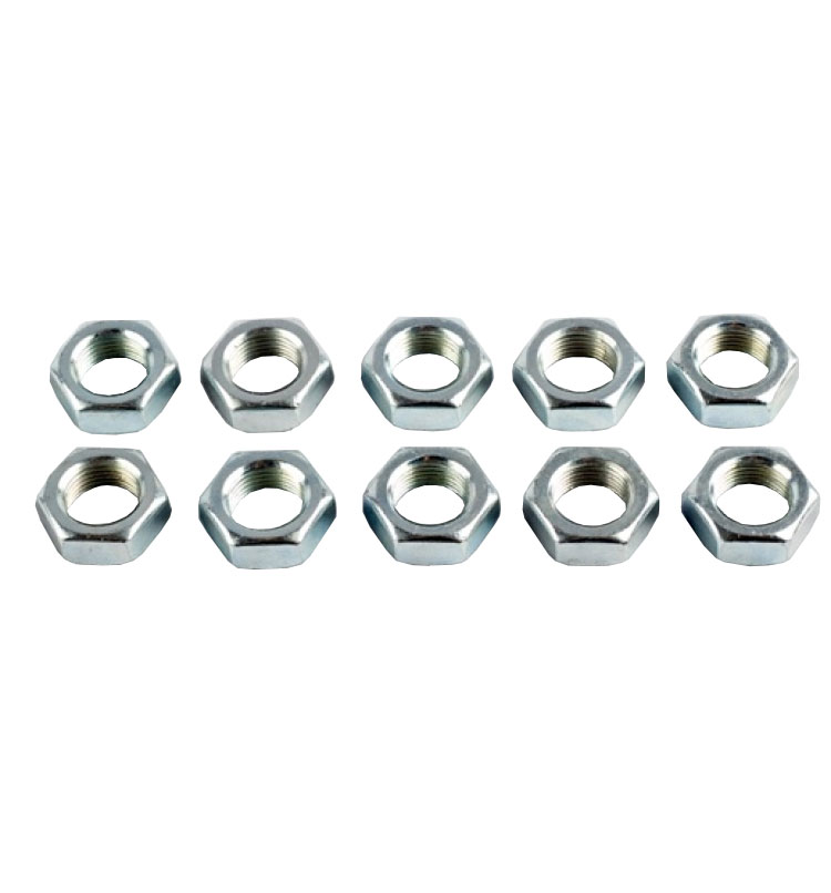 M12 x 1.25mm Left Hand Threaded Half Nuts - Pack of 10