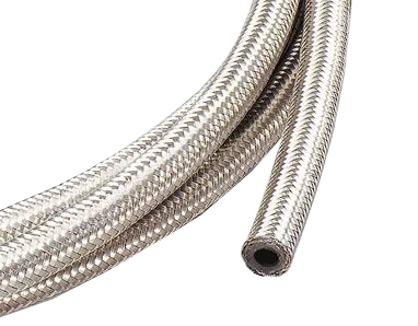 "Stainless Steel Braided Fuel Hose - 8mm (5/16"") ID"