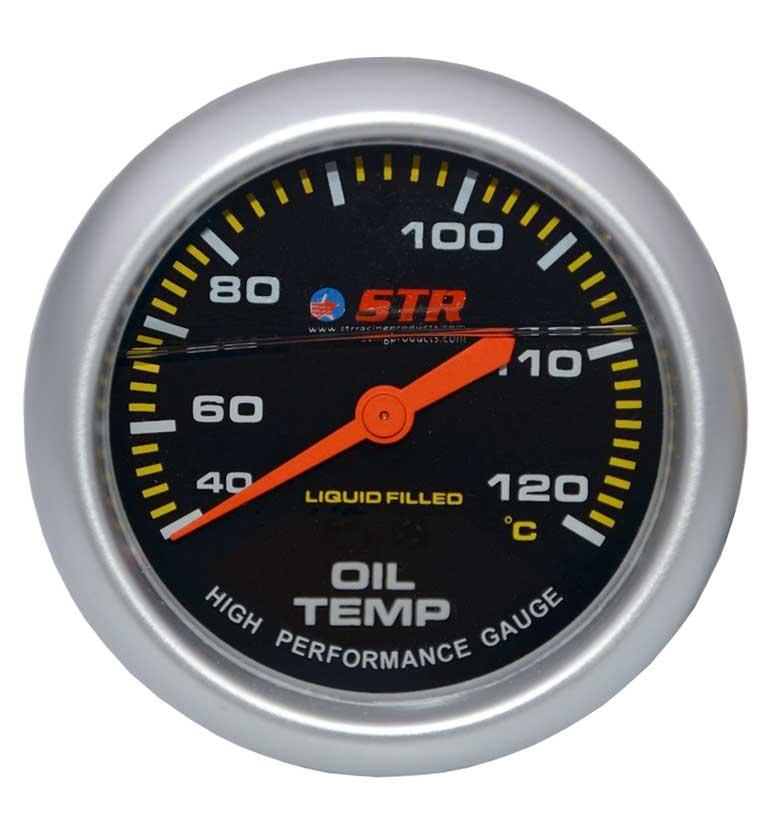 Oil Temp Mechanical Liquid Filled Gauge | High Performance